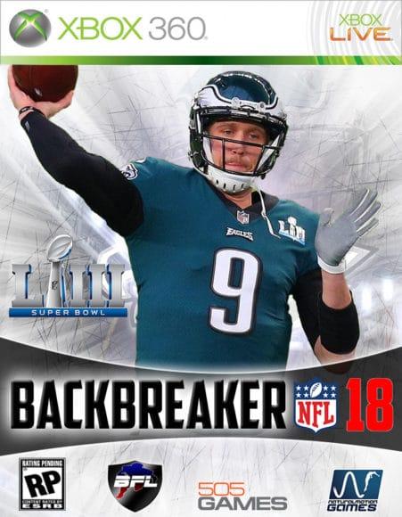 Bacbreaker NFL 18 Cover Art (Xbox 360)