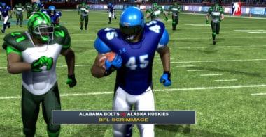 Explosive 96 yard touchdown reception_Backbreaker Football League Highlights